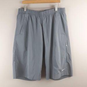Nike Men's Swim Trunks Gray Medium   F1